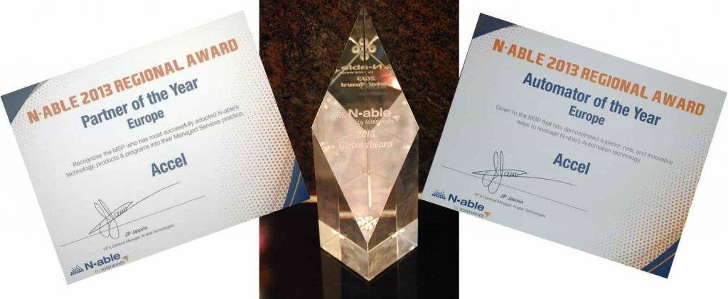 Accel wint Nable awards