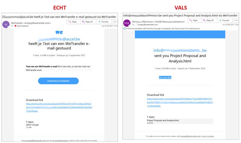 Valse WeTransfer mails